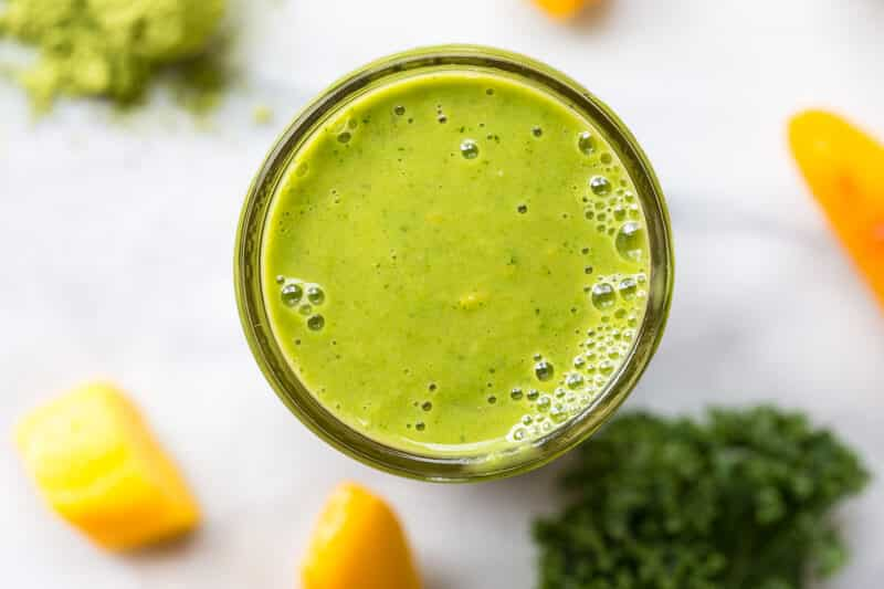 20 Healthy Green Smoothie Recipes: Matcha Green Tea Smoothie