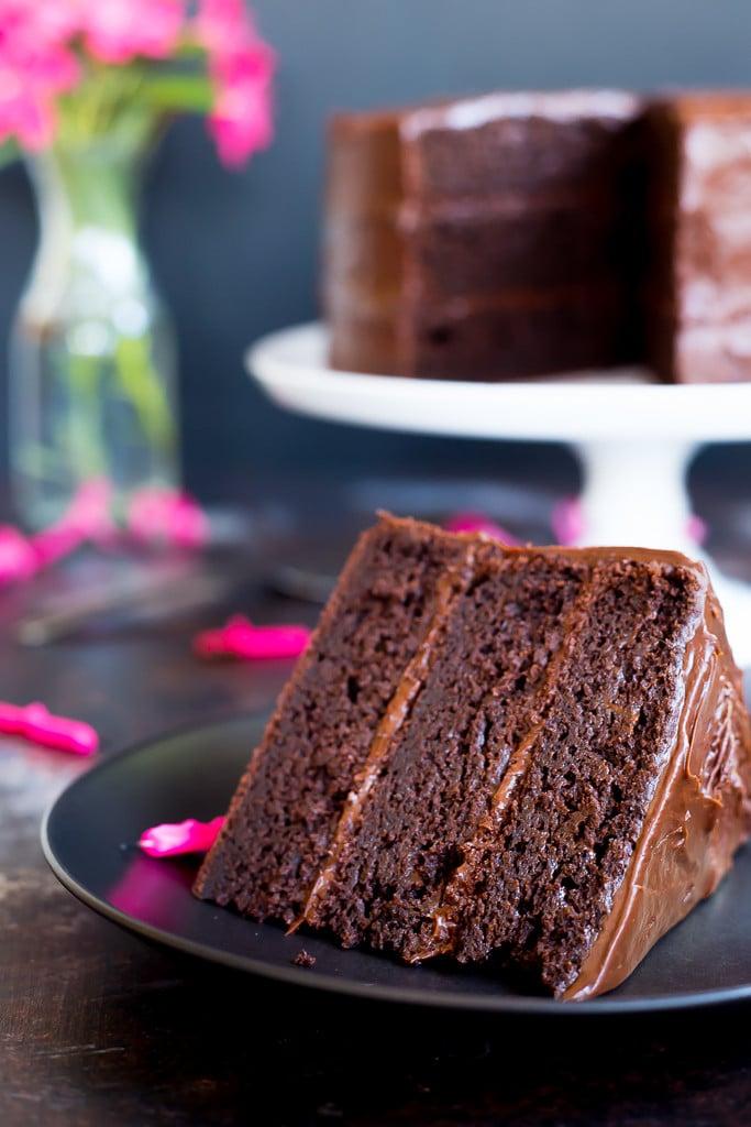 25 Drool-Worthy Chocolate Cake Recipes: Gluten-free Three Layer Chocolate Cake