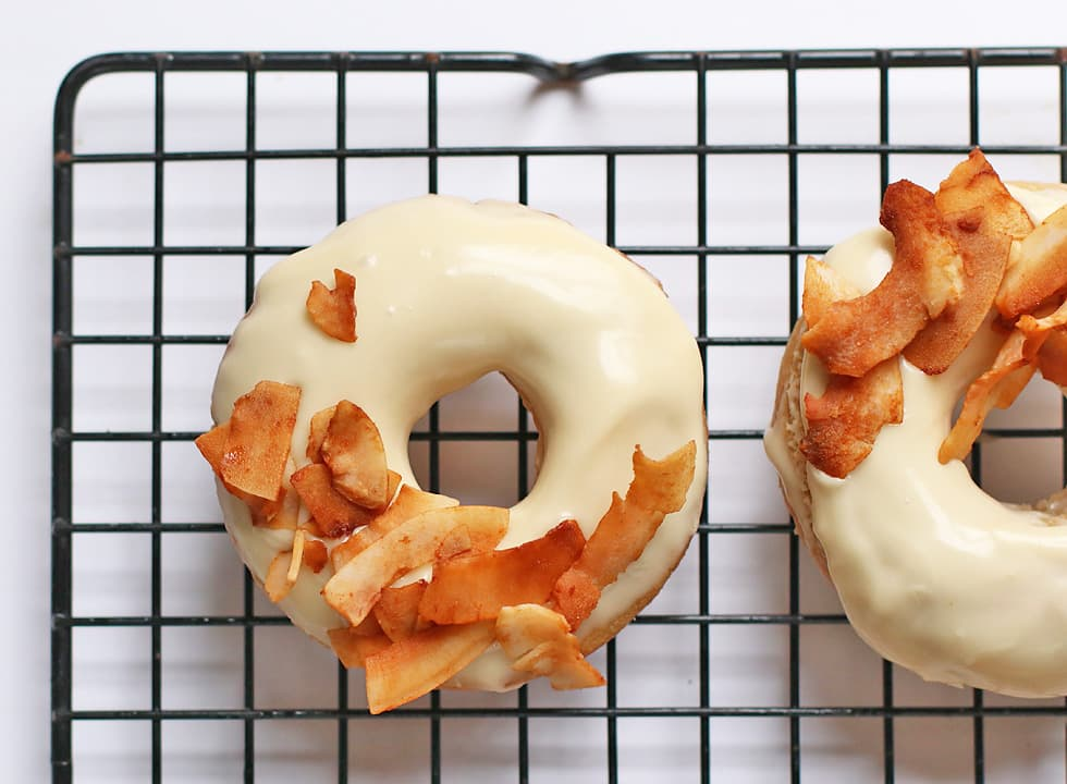 Vegan Maple Bacon Doughnuts