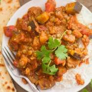 Indian-Inspired Lentil & Eggplant Curry