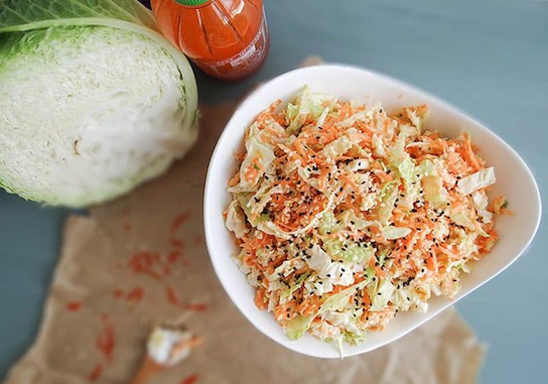 15 Coleslaw Recipes to Make This Summer: Napa Sriracha Slaw