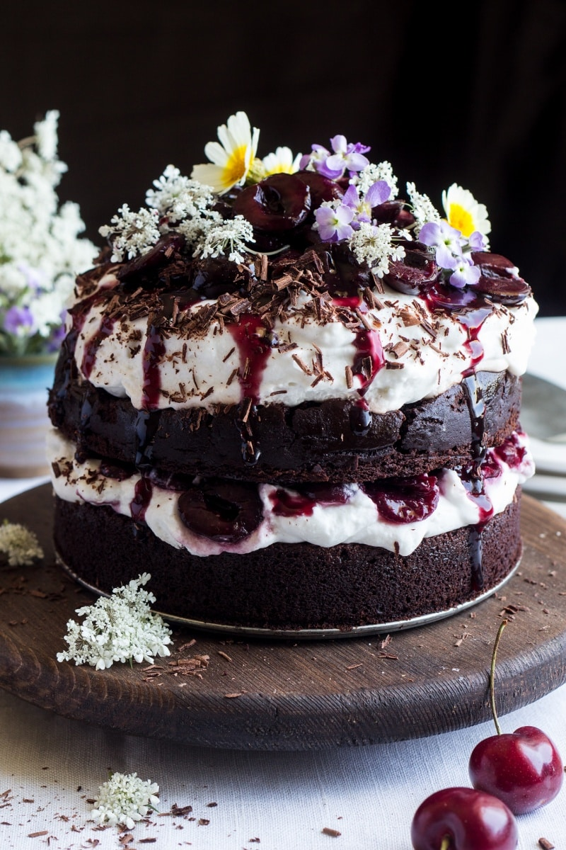 25 Drool-Worthy Chocolate Cake Recipes: Vegan Black Forest Cake