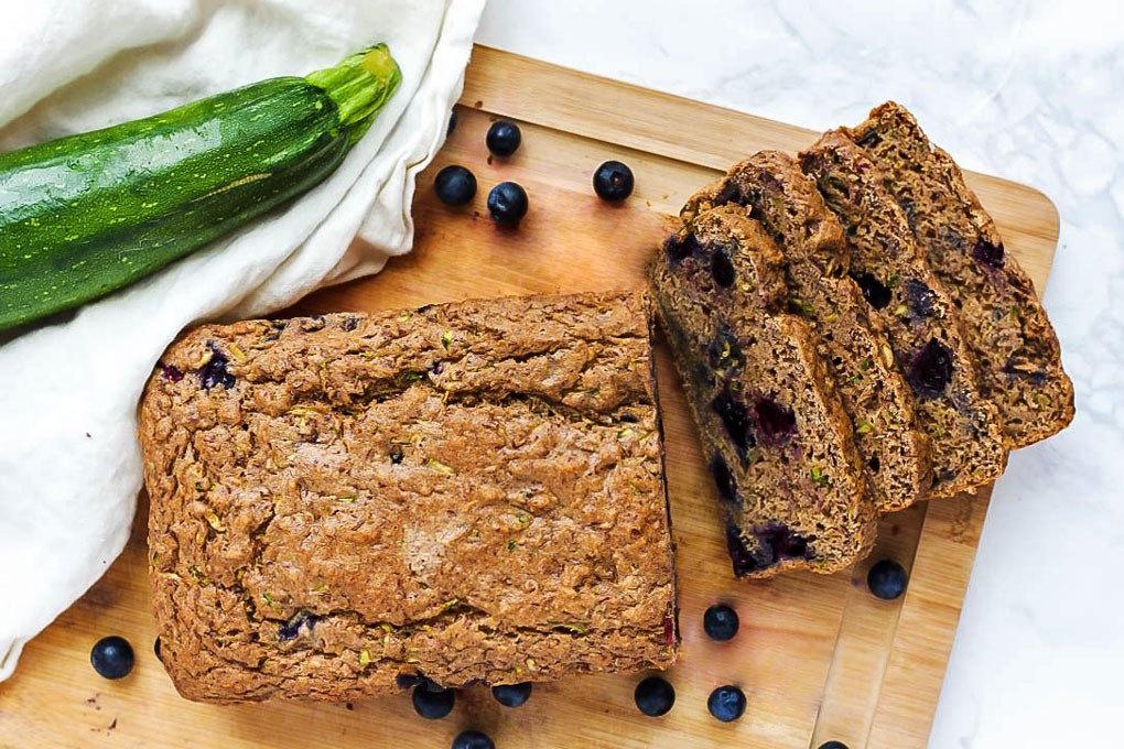 18 Zucchini Bread Recipes Everyone Will Love: Vegan Blueberry Zucchini Bread