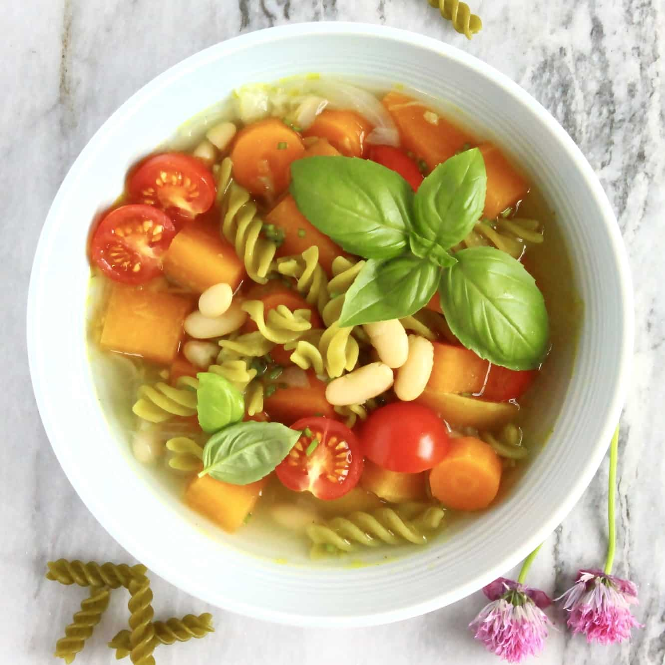 15 Delicious Minestrone Soup Recipes: Vegan Pea Pasta Minestrone