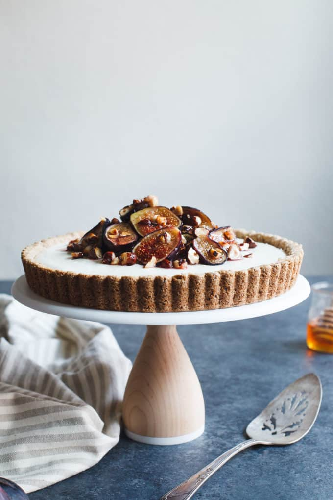 15 Recipes That Take New York Cheesecake to the Next Level: Ginger Goat Cheese Cheesecake with Honey-Roasted Figs and Hazelnuts