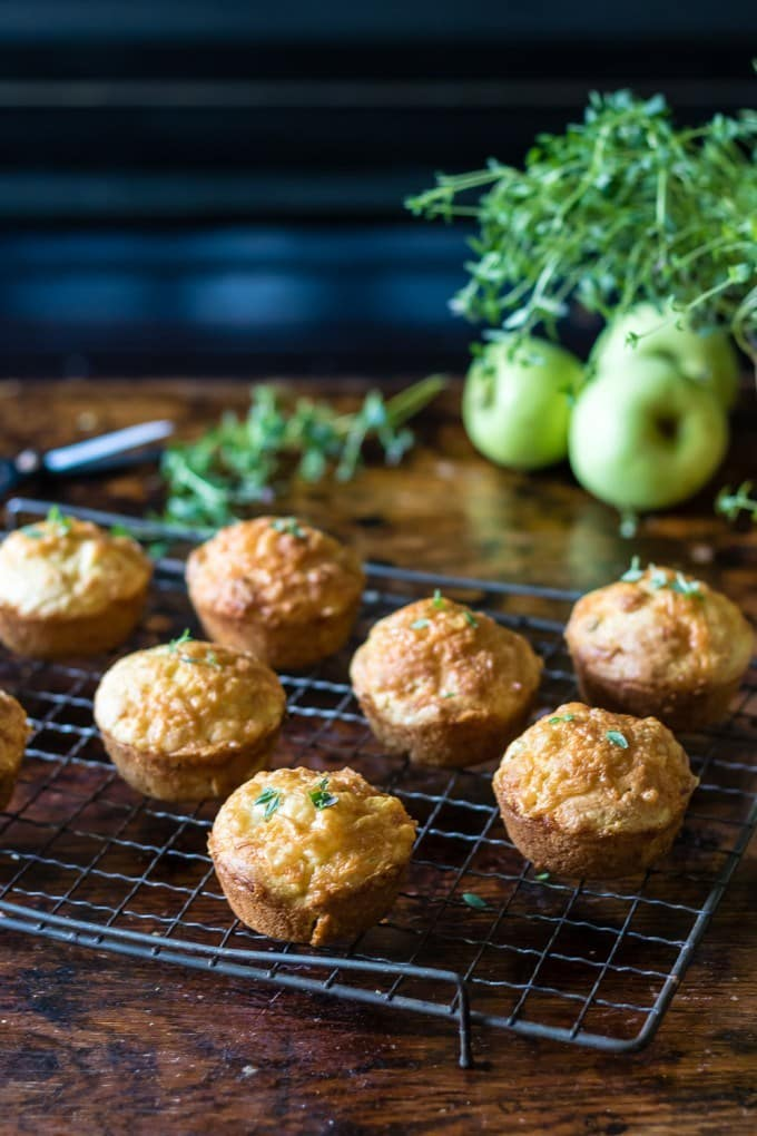 20 Savory Apple Recipes to Try This Fall: Apple Cheese Muffins with Thyme