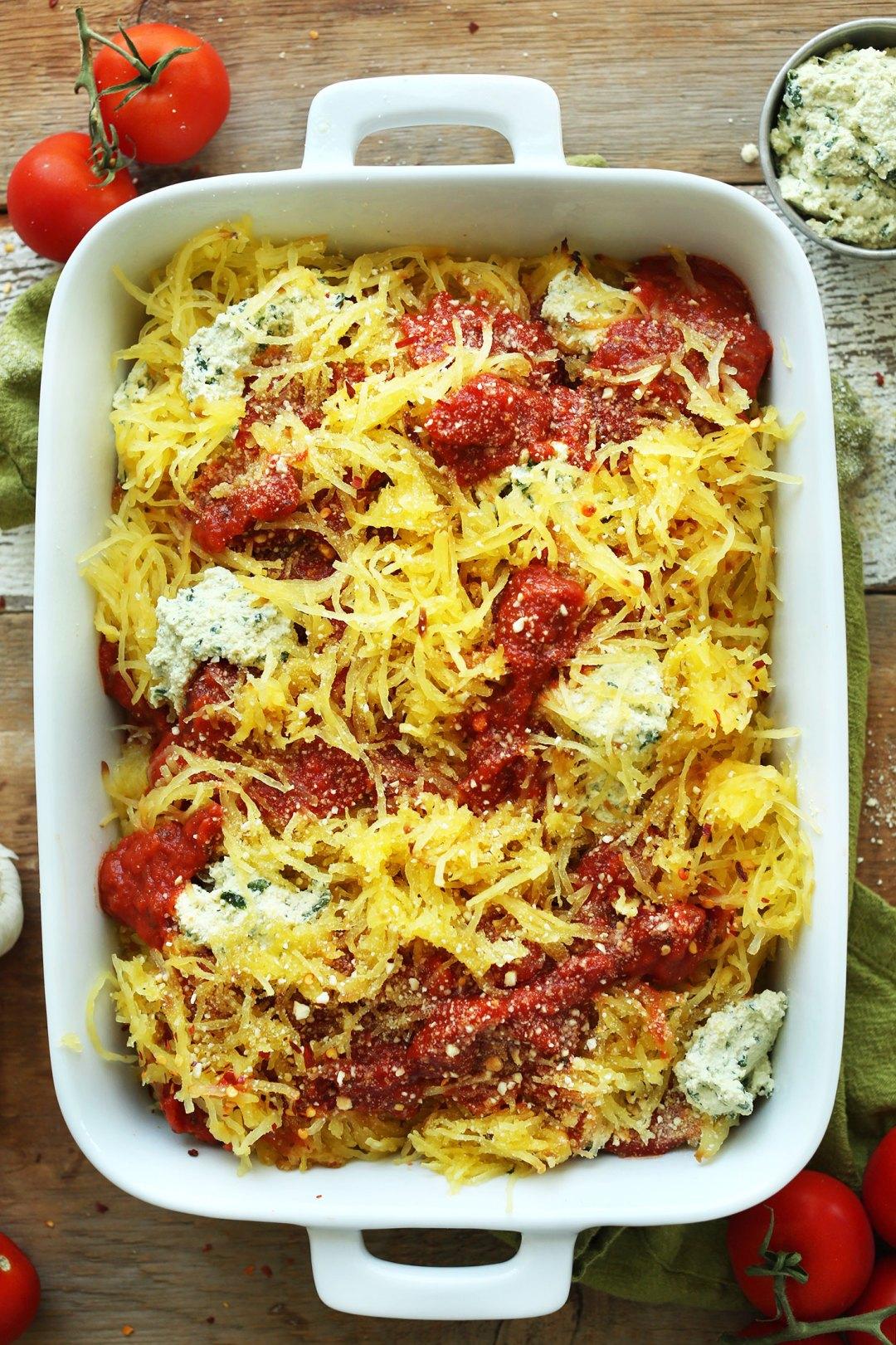 32 Creative Spaghetti Squash Recipes: Spaghetti Squash Lasagna Bake