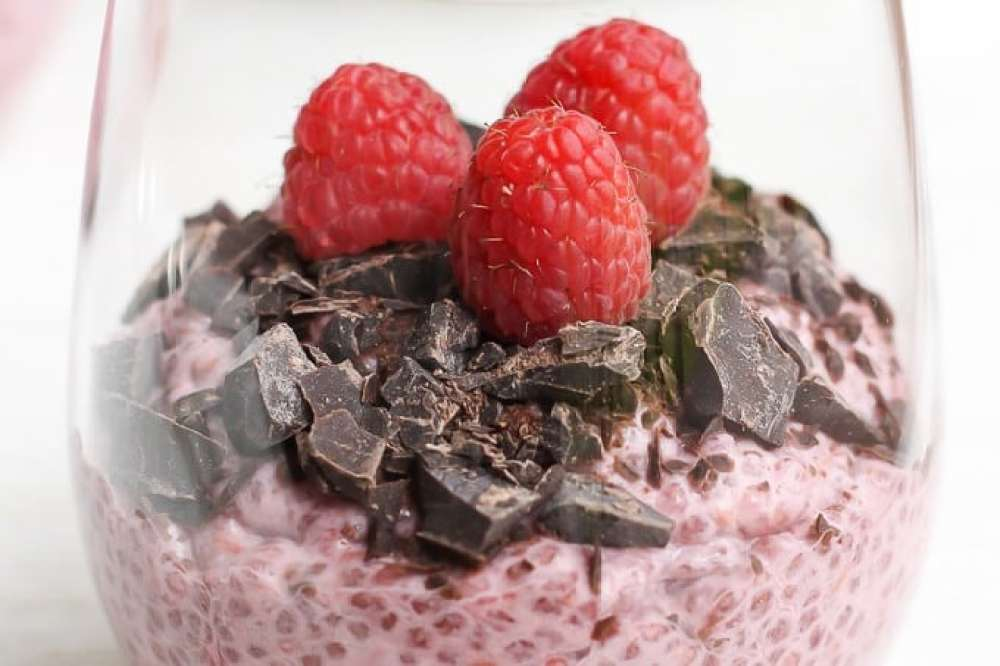 18 Chia Seed Pudding Recipes Everyone Will Love: Chocolate and Raspberry Chia Pudding 4 ways