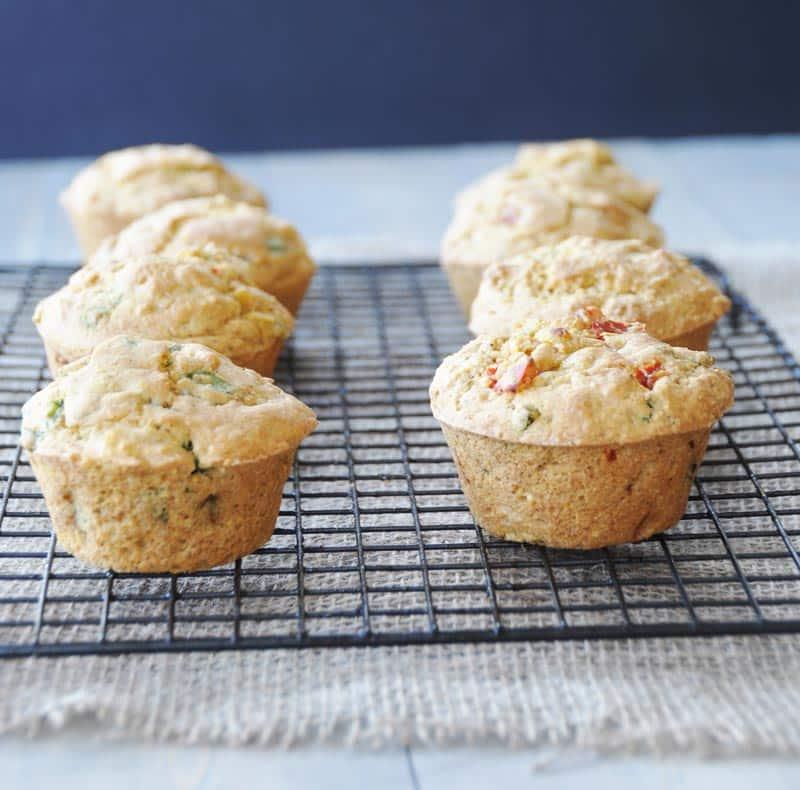 49 Savory Vegan Breakfast Recipes: Savory Vegan Corn and Pepper Muffins