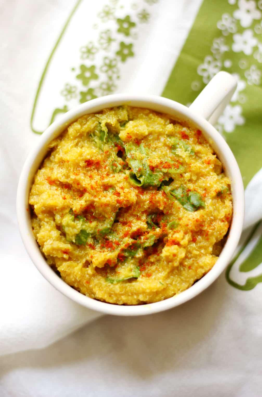 49 Savory Vegan Breakfast Recipes: Savory Veggie Quinoa Flakes