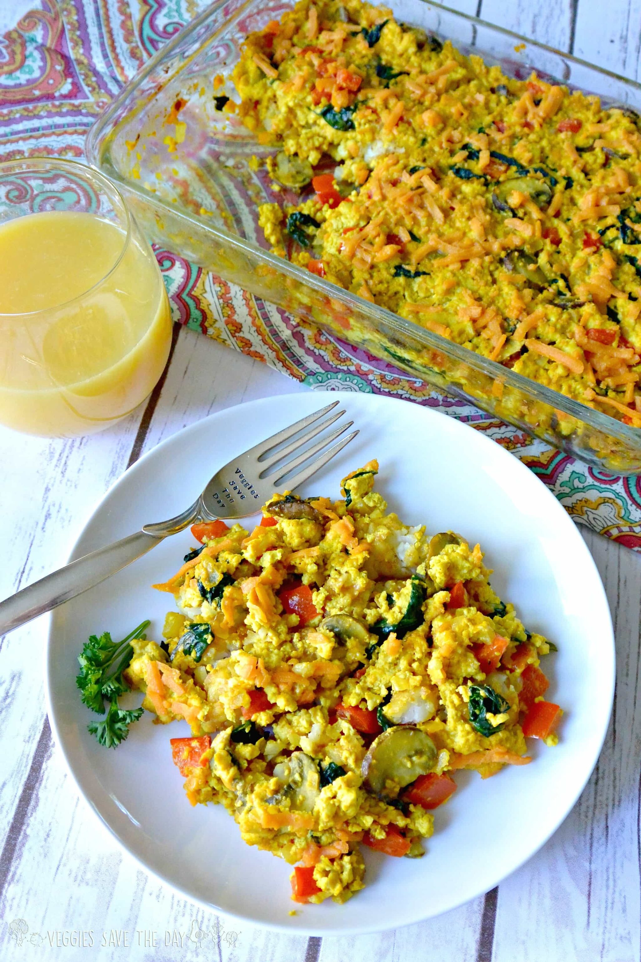 49 Savory Vegan Breakfast Recipes: Tofu Scramble Tator Tot Casserole
