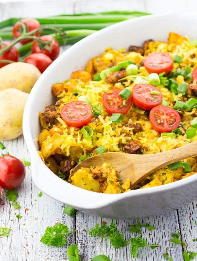 49 Savory Vegan Breakfast Recipes: Vegetarian Breakfast Casserole