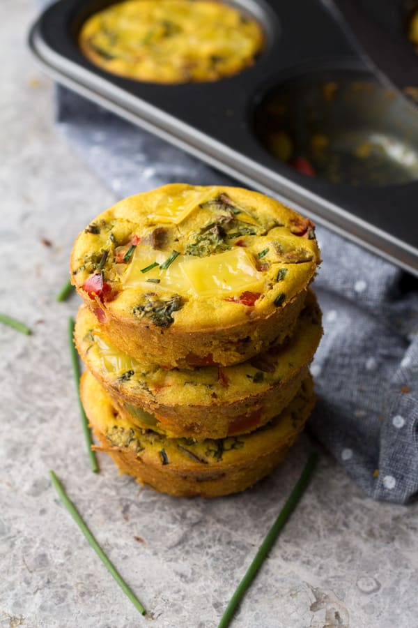 49 Savory Vegan Breakfast Recipes: Chickpea Flour Omelette Muffins