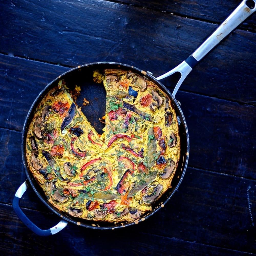 49 Savory Vegan Breakfast Recipes: Vegan Gluten Free Frittata
