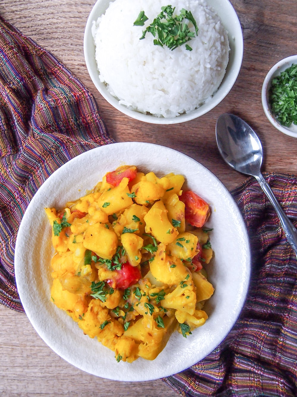 Aloo Gobi (Indian Spiced Potatoes and Cauliflower)
