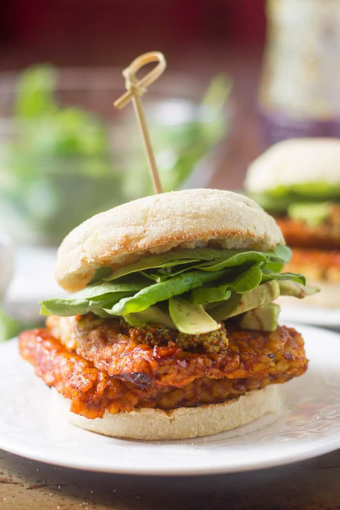 49 Savory Vegan Breakfast Recipes: Savory Tempeh Breakfast Sandwiches