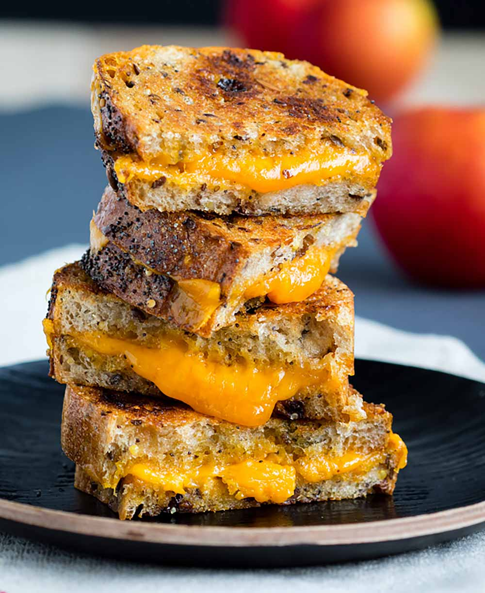 21 Mind-Blowing Grilled Cheese Sandwich Recipes: Raisin Bread Grilled Cheese