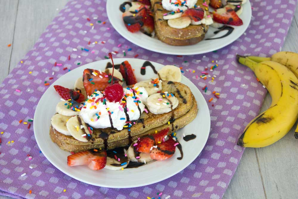 15 Delicious Recipes That Take French Toast to the Next Level: Banana Split French Toast