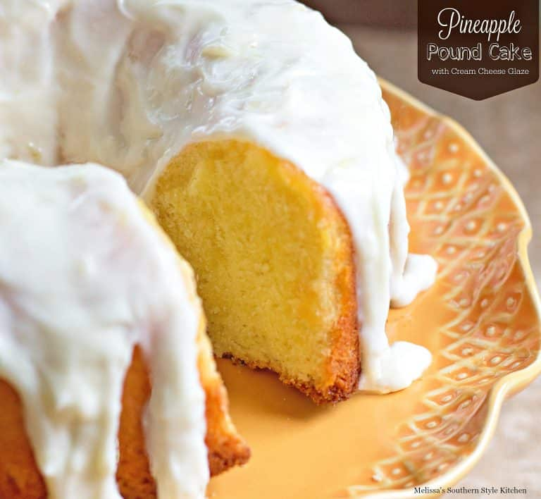 15 Crave-Worthy Pound Cake Recipes: Pineapple Pound Cake with Cream Cheese Glaze