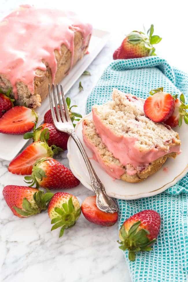 15 Crave-Worthy Pound Cake Recipes: Strawberry Pound Cake with Strawberry Glaze