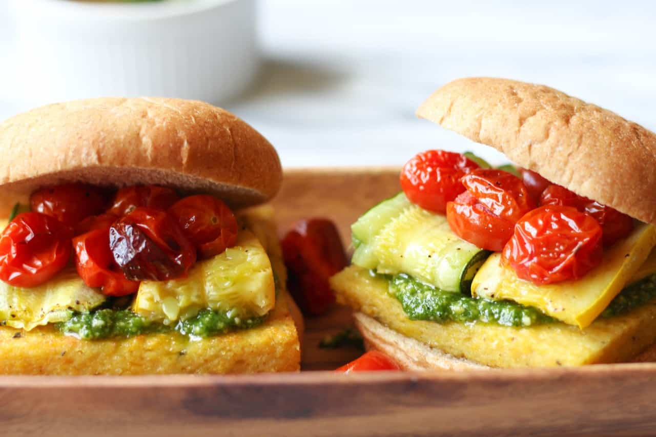 17 Delicious Vegetarian Dinners You Can Make with a Tube of Polenta: Polenta Veggie Burgers