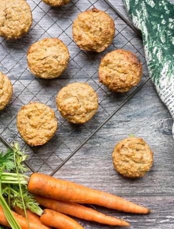 Quinoa Carrot Cake Muffins
