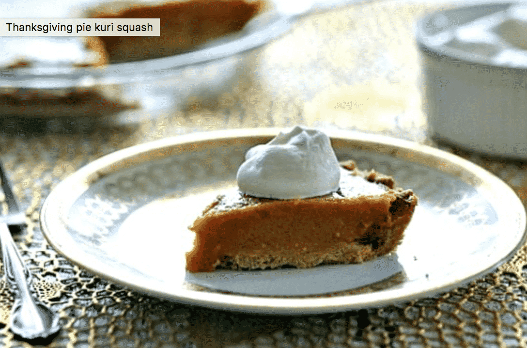 15 Creative Roasted Red Kuri Squash Recipes You Need To Try: Kuri Squash Pie with Gingerbread Crust