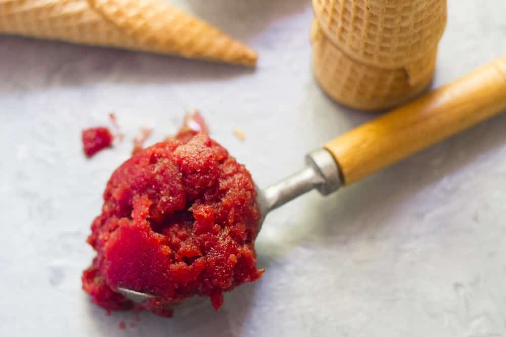 Beetroot and Vanilla Sorbet