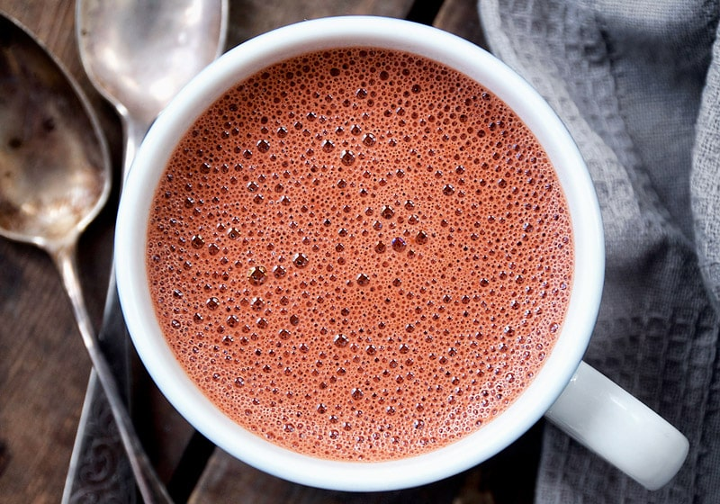 15 Vegan Hot Chocolate Recipes Everyone Will Love: Red Velvet Hot Chocolate