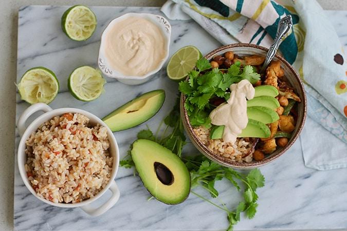 Vegan Sheet Pan Fajita Bowls