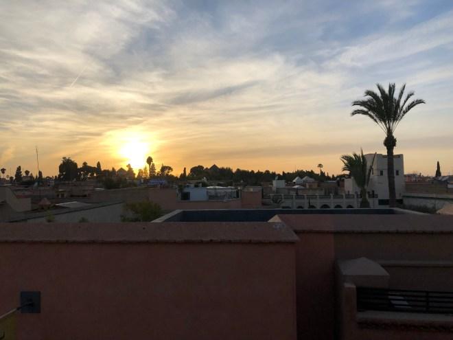 Sonnenuntergang vom Café Arabe
