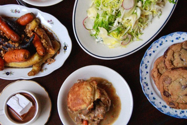 Gage & Tollner's Braised Heritage Pork Dinner
