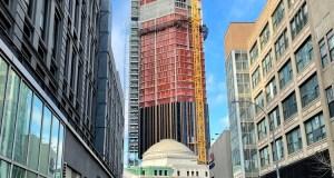 Construction on 9 Dekalb as seen from Bond St