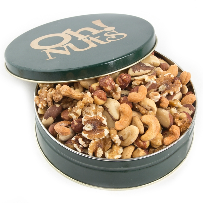 Holiday Roasted Mixed Nuts Gift Tin Oh Nuts