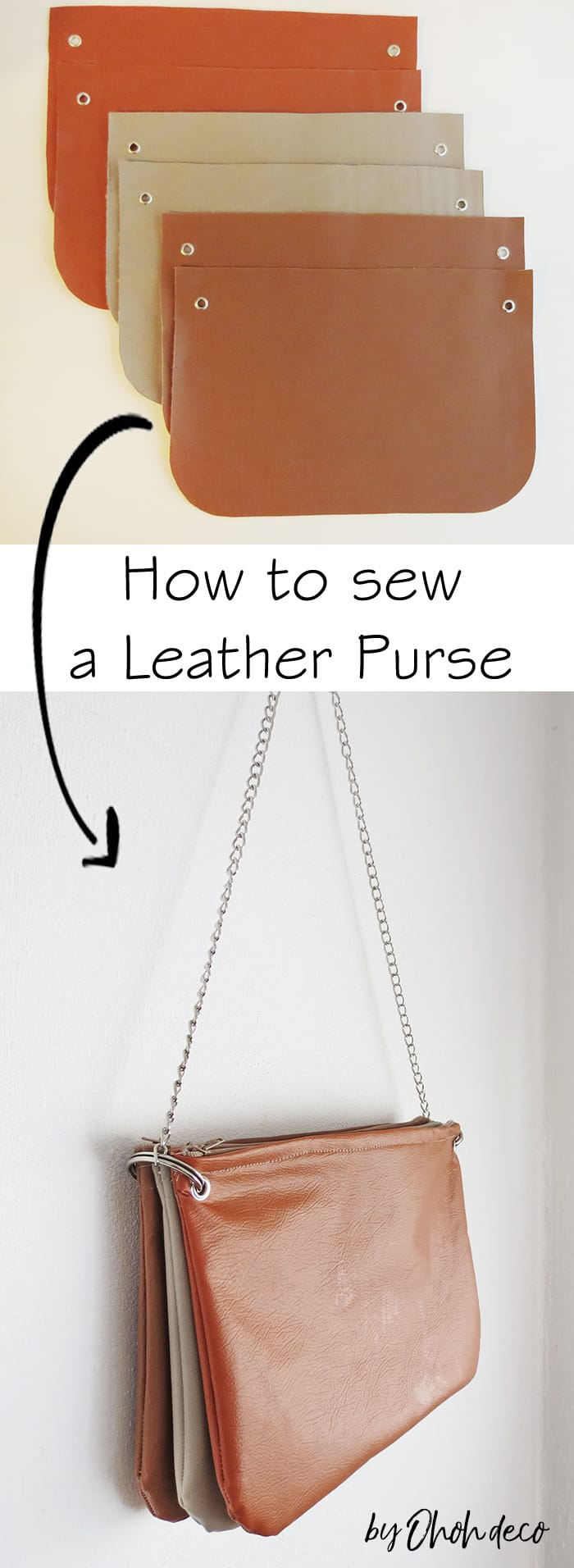 how to sew a leather purse