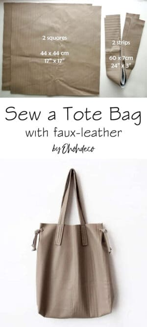 sew a tote bag with faux leather