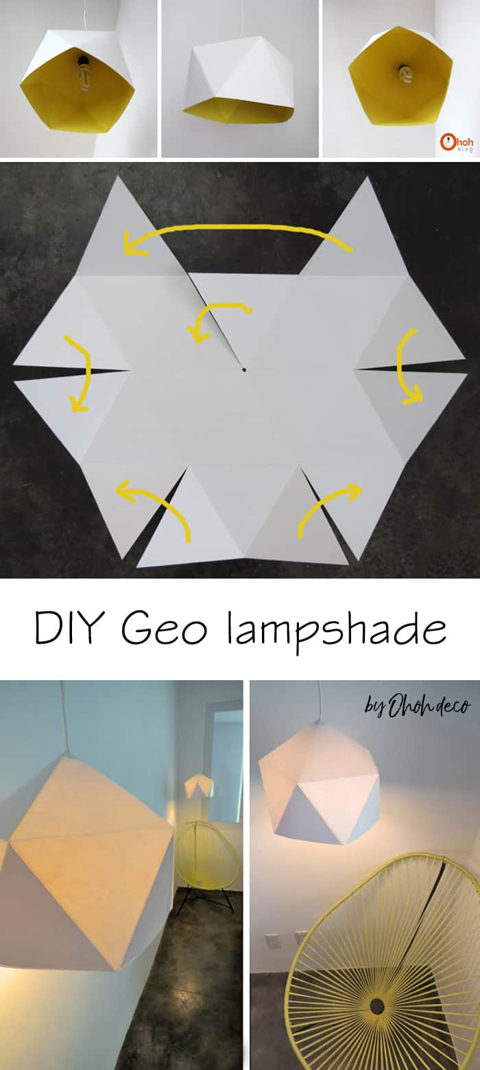 DIY geo lampshade