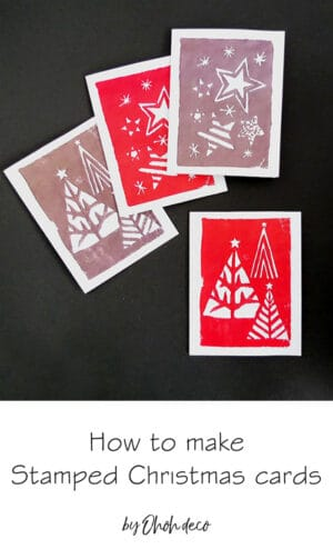 diy stamped christmas cards