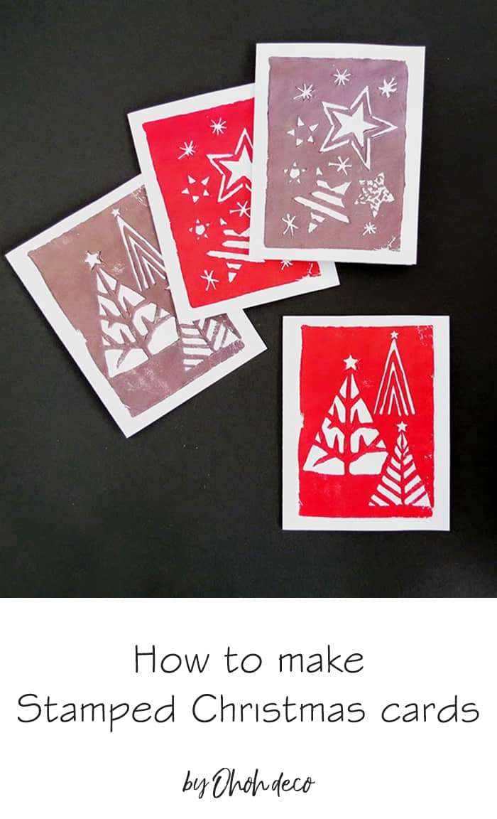 diy stamped christmas cards
