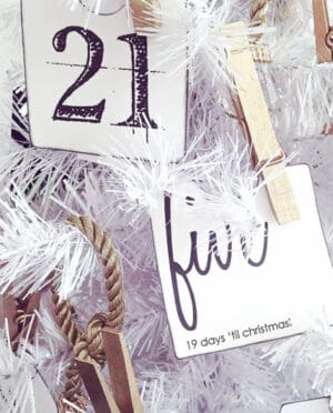 free printable Christmas advent calendar