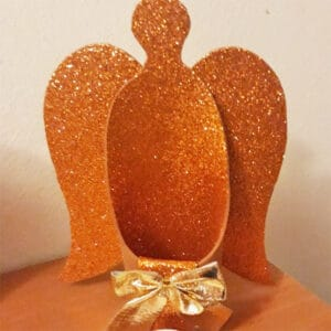 glitter angel votive diy