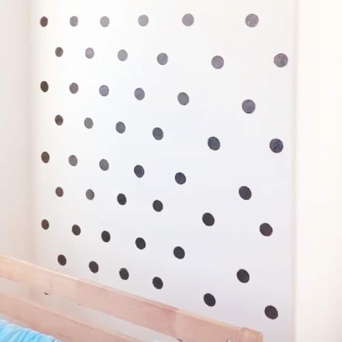 diy accent wall dots