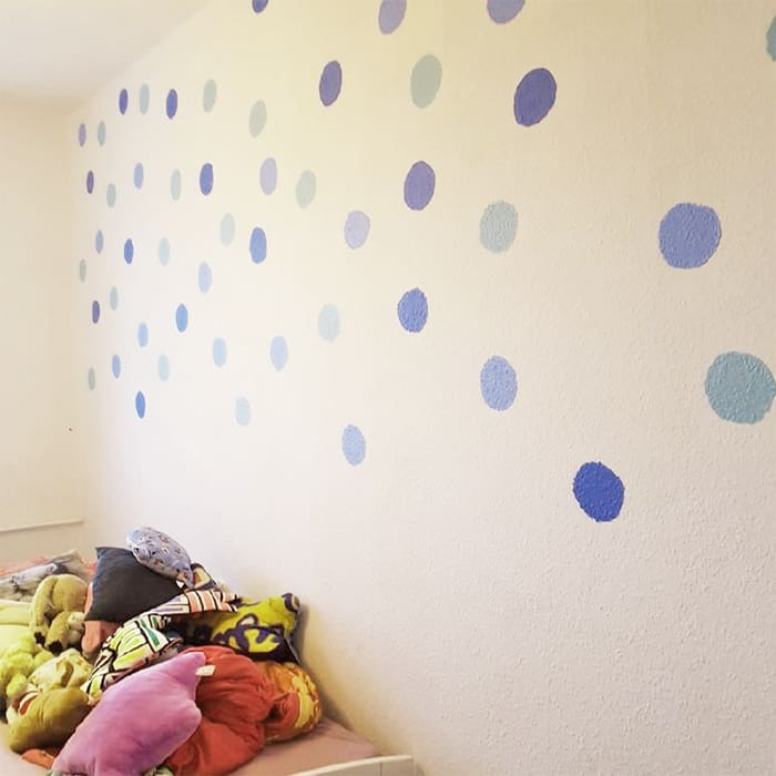 polka dot wall diy
