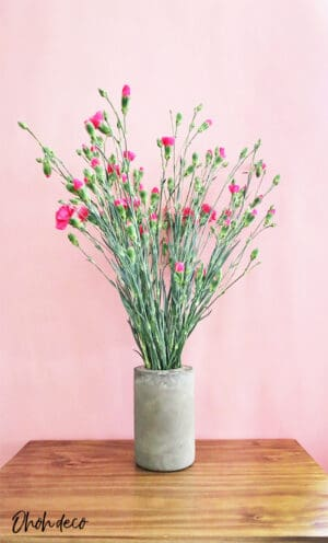 diy concrete flower vase