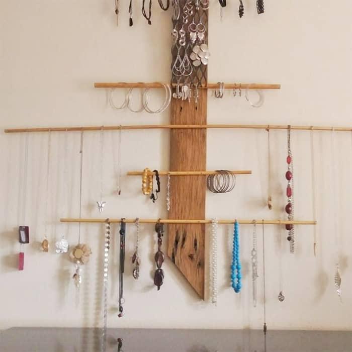 wall jewelry holder diy