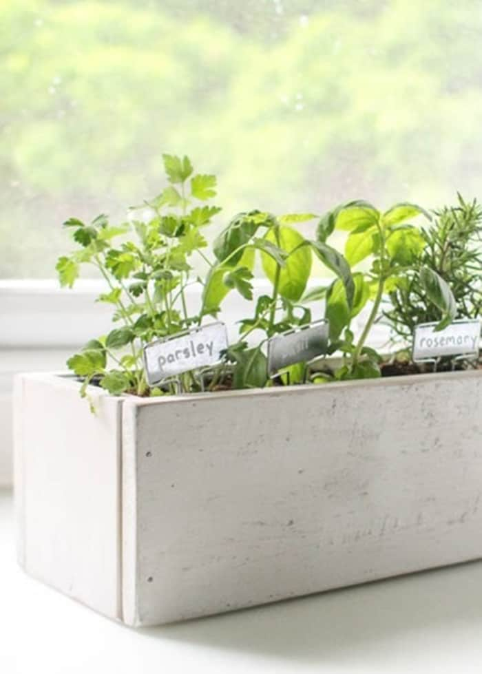 diy indoor herb planter box