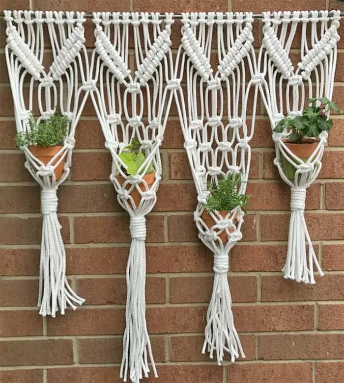 macrame wall hanging planter