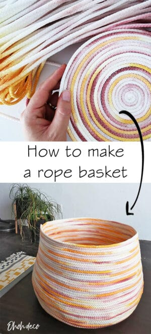 how to make a rope basket