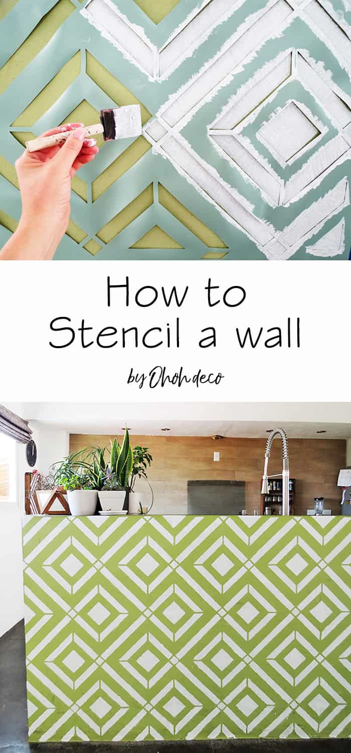 how to paint a wall with stencil