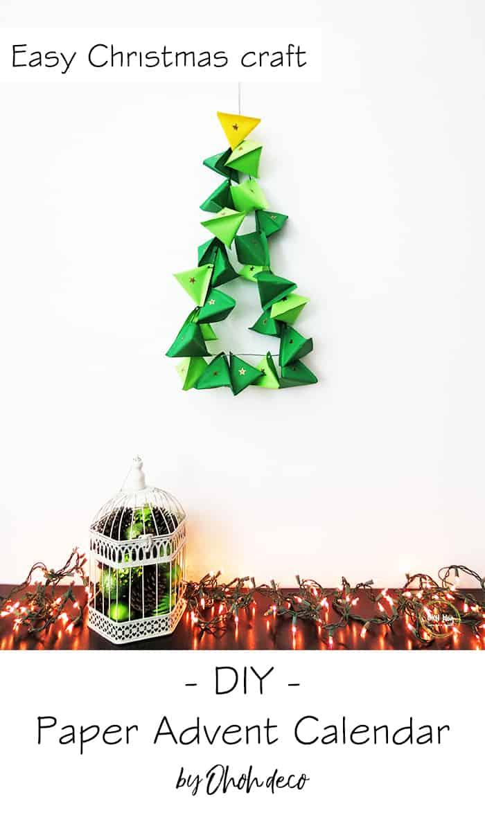 diy paper christmas advent calendar
